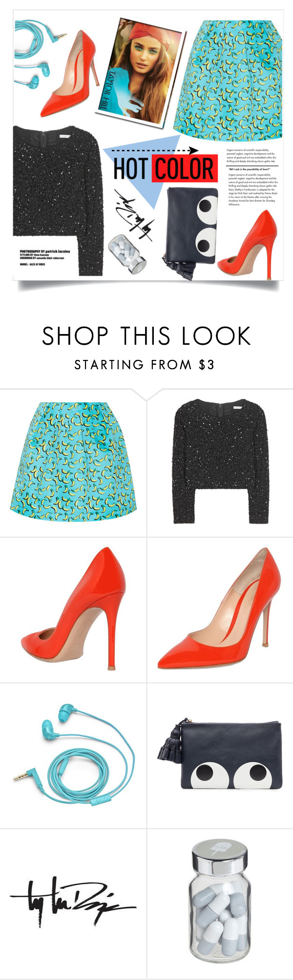 """""""she's addicted to the song lyrics that spill out of her heart"""" by tanyatoms13 ❤ liked on Polyvore featuring Markus Lupfer, Alice + Olivia, Gianvito Rossi, FOSSIL, Anya Hindmarch, Troy Lee Designs and Vita"""
