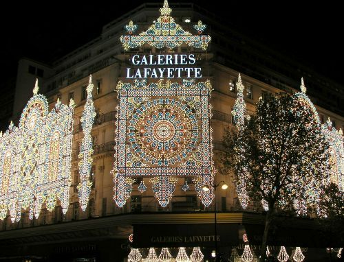 The Galeries Lafayette's traditional christmas lightings,