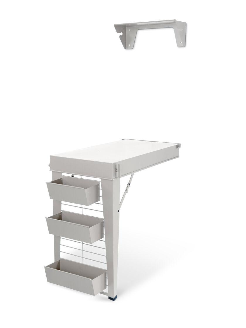 Smart Bedside Table: Murphy Table - Demeter Fold Down Duo Table