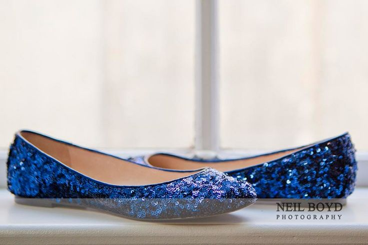 Something Blue. Sparkling Blue Flats For Brideu0027s Wedding Shoes. Idea