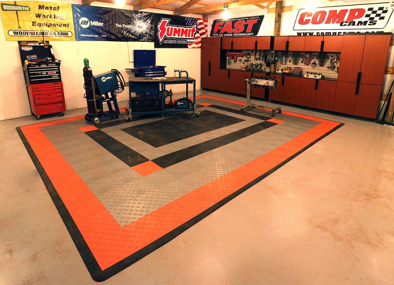 Harley Davidson Interlocking Floor Tiles With Images Interlocking Floor Tiles Tile Floor Flooring