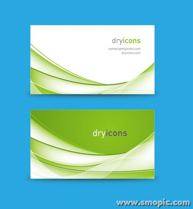 Creative Abstract Green Background Card Brochure Cover Design