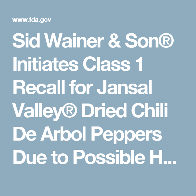 Class 1 Recall >> Sid Wainer Son Initiates Class 1 Recall For Jansal Valley