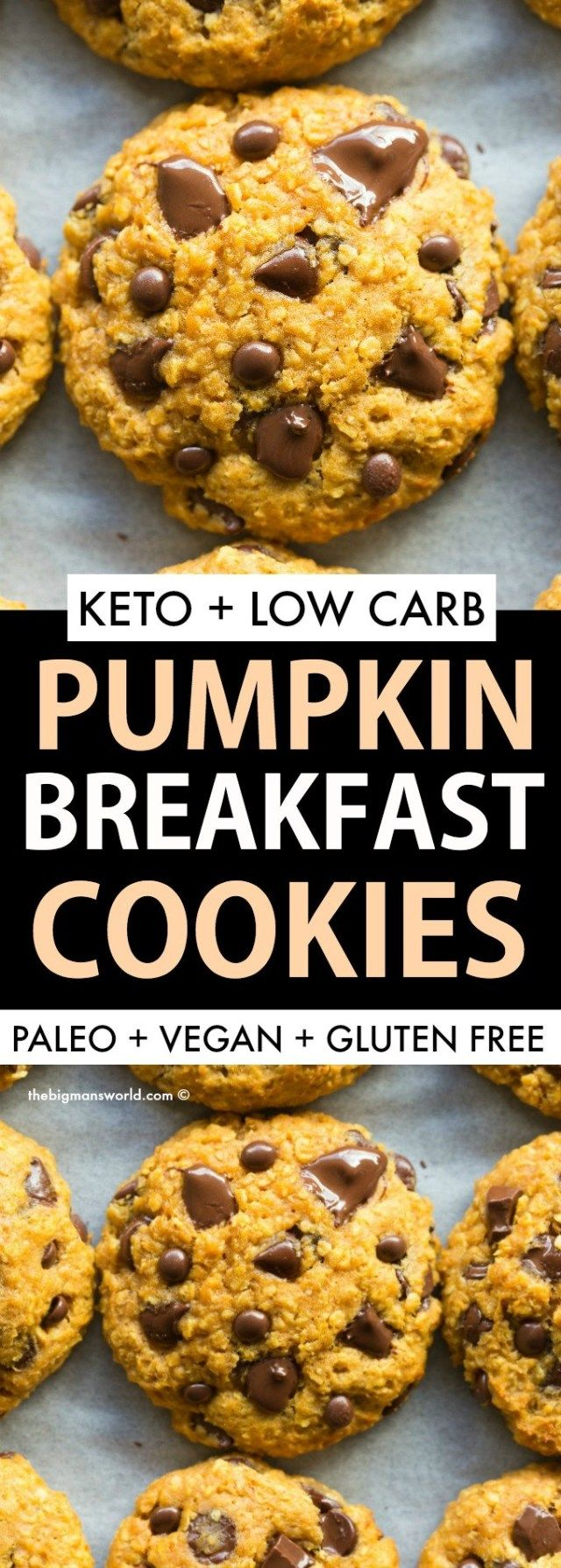 Paleo Pumpkin Breakfast Cookies Vegan Gluten Free The Big Man S World Recipe Pumpkin Breakfast Pumpkin Breakfast Cookies Breakfast Cookies