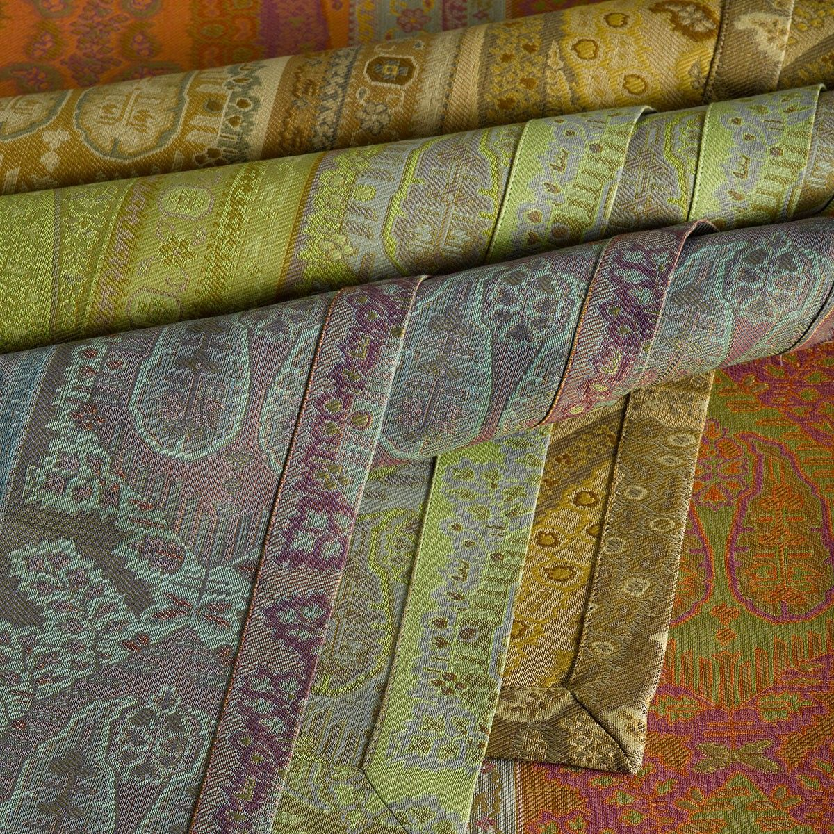ANICHINI | Taj Table Linens - Paisley Jacquard Napkins, Placemats, Runners, and Tablecloths