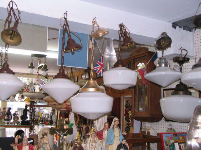 Antiquité Lustre Plafonnier Lampe Suspendue Chandelier Torchère
