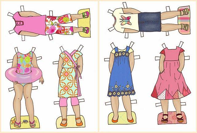 summer paper dolls