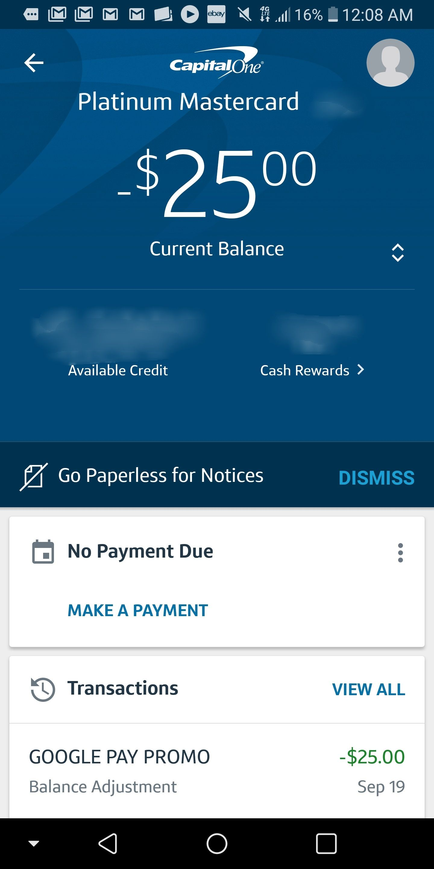 EXPIRED) Update, not targeted: Easy $9 statement credit for
