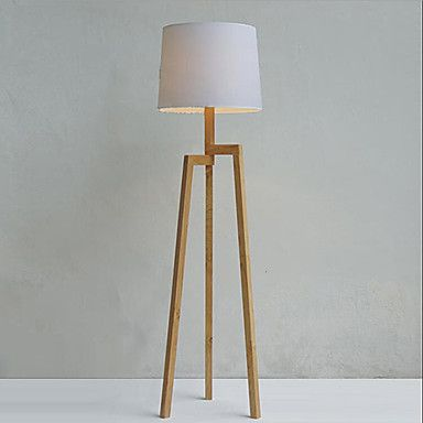 Beautiful Holz Stativ Stehlampe mit Stoffschirm