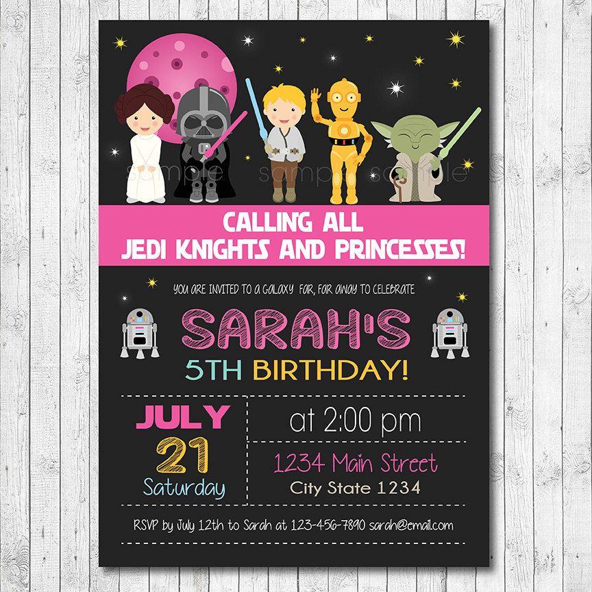 Star Wars Birthday Invitation Star Wars Invite Star Wars Party Girls Invitati Star Wars Invitations Free Star Wars Invitations Star Wars Birthday Invitation
