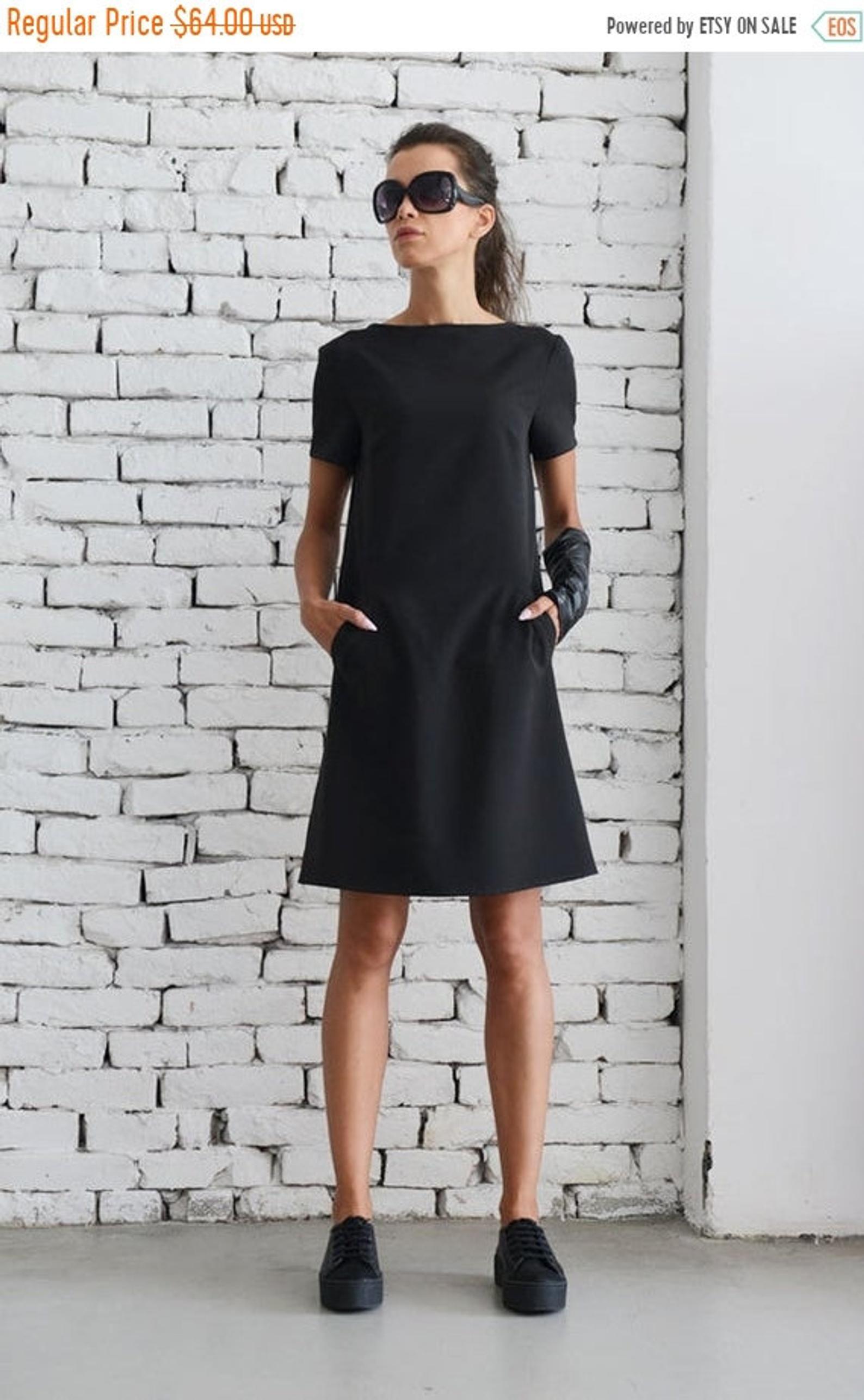 Black Casual Dress Little Black Dress Midi Office Dress Short Etsy Black Dresses Casual Little Black Dress Black Short Dress [ 2571 x 1588 Pixel ]