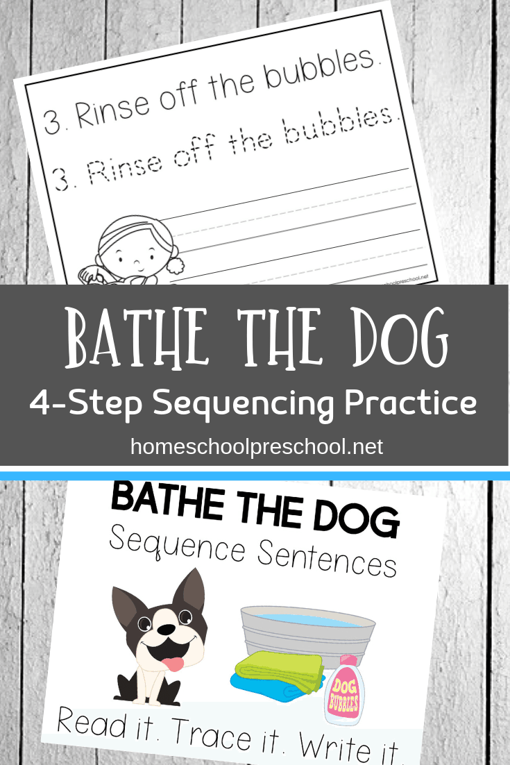 Bathe The Dog Sentence Sequencing Activities Sequencing Activities Kindergarten Books Preschool Learning [ 1102 x 735 Pixel ]