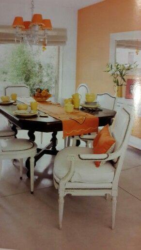 Durazno comedor | casa colores | Comedores, Living comedor, Colores