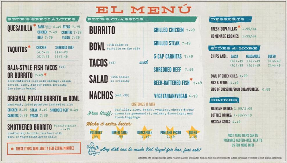 illegal pete's menu (With images) Menu restaurant