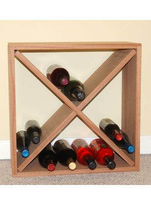 Simple yet elegant stackable wine rack that fits just about anywhere. The Oak cellar cube has a 24 bottle capacity. Stack multiple cubes for more storage.  sc 1 st  Pinterest & wine cube kit | wine | Pinterest | Wine rack Hardware and Storage