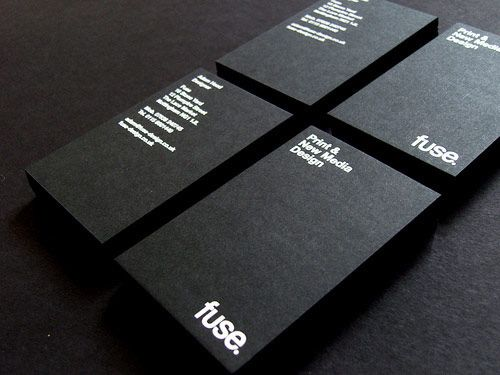 Neat and cool collection of black and white business cards good way to describe the company on one side and put the contact information on the other colourmoves