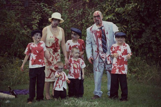 Zombie family portrait maybe for fun but not for the family portrait
