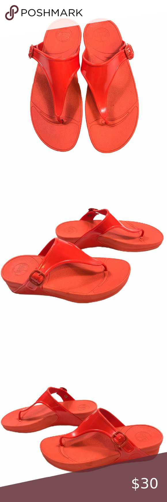 Fitflop Red Superjelly Flip Flop Size