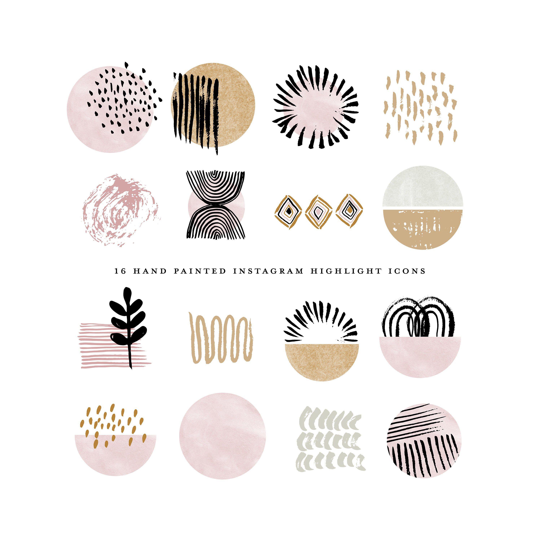 Modern Boho Branding Pink Geometric Abstract Etsy Branding Kit Etsy Shop Banner Design Etsy Logo Geometric Branding Etsy Shop Template