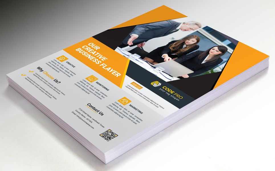 Poster Business And Service Flyer Design Corporate Identity Template 73633 Flyer Design Flyer Design Templates Corporate Identity