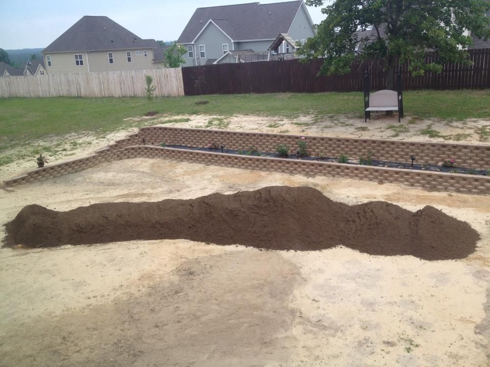 12 Yards 1 5 Coverage Of Top Soil To Ensure The Sod Will Grow Top Soil Backyard Yard
