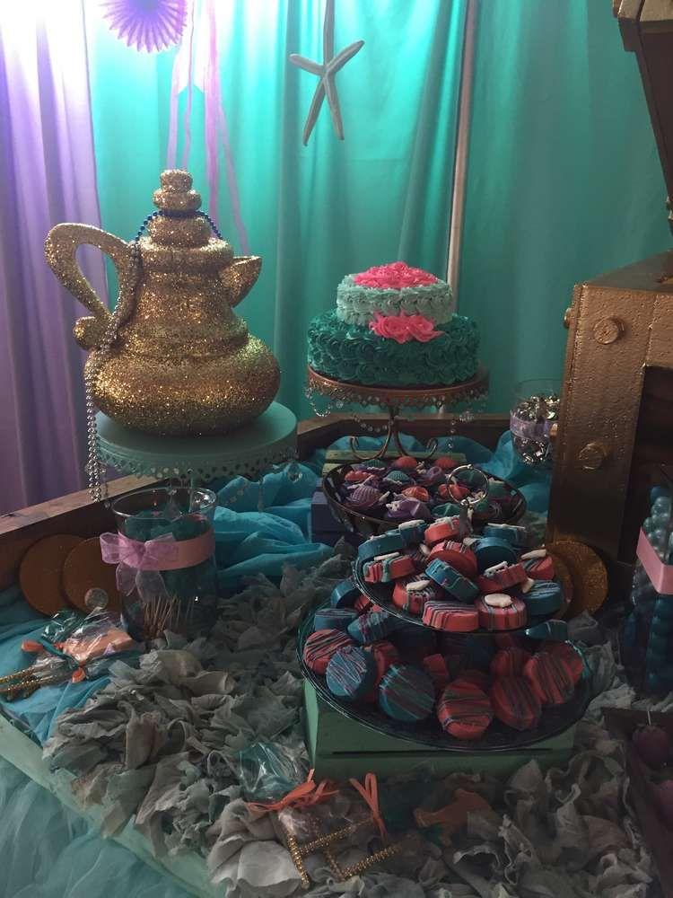 Lauren's First Birthday Undersea Mermaid Theme | CatchMyParty.com
