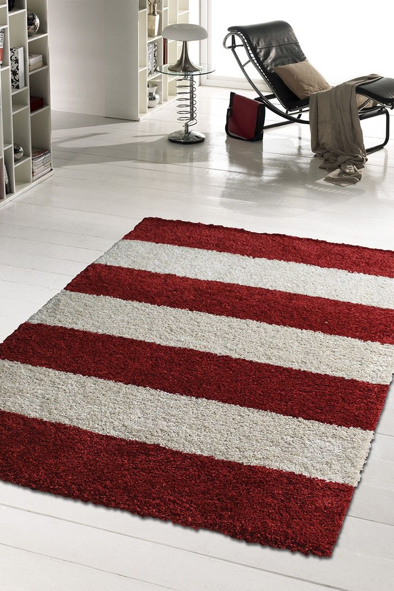 Graphic Red White Stripes Rug Kids Hanks Lunch Ideas