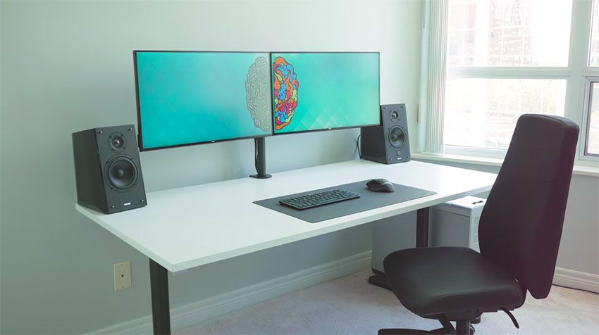 The Ultimate Dual Monitor Desk Setup For Your Creative Workflow Accessories Study Décor Studying Work Desktop Office Cute Boho Zen