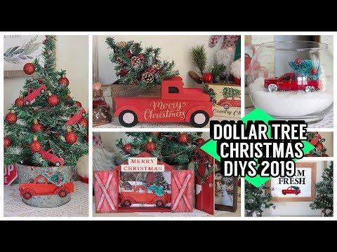 1029 Dollar Tree Christmas Diys 2019 Red Truck Diys Youtube Dollar Store Christmas Crafts Dollar Store Christmas Dollar Tree Christmas