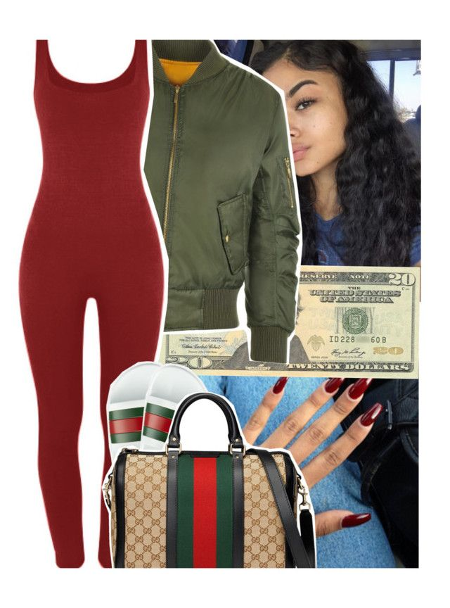 """""""making plays💗"""" by daeethakidd ❤ liked on Polyvore featuring OPTIONS, WearAll and Gucci"""