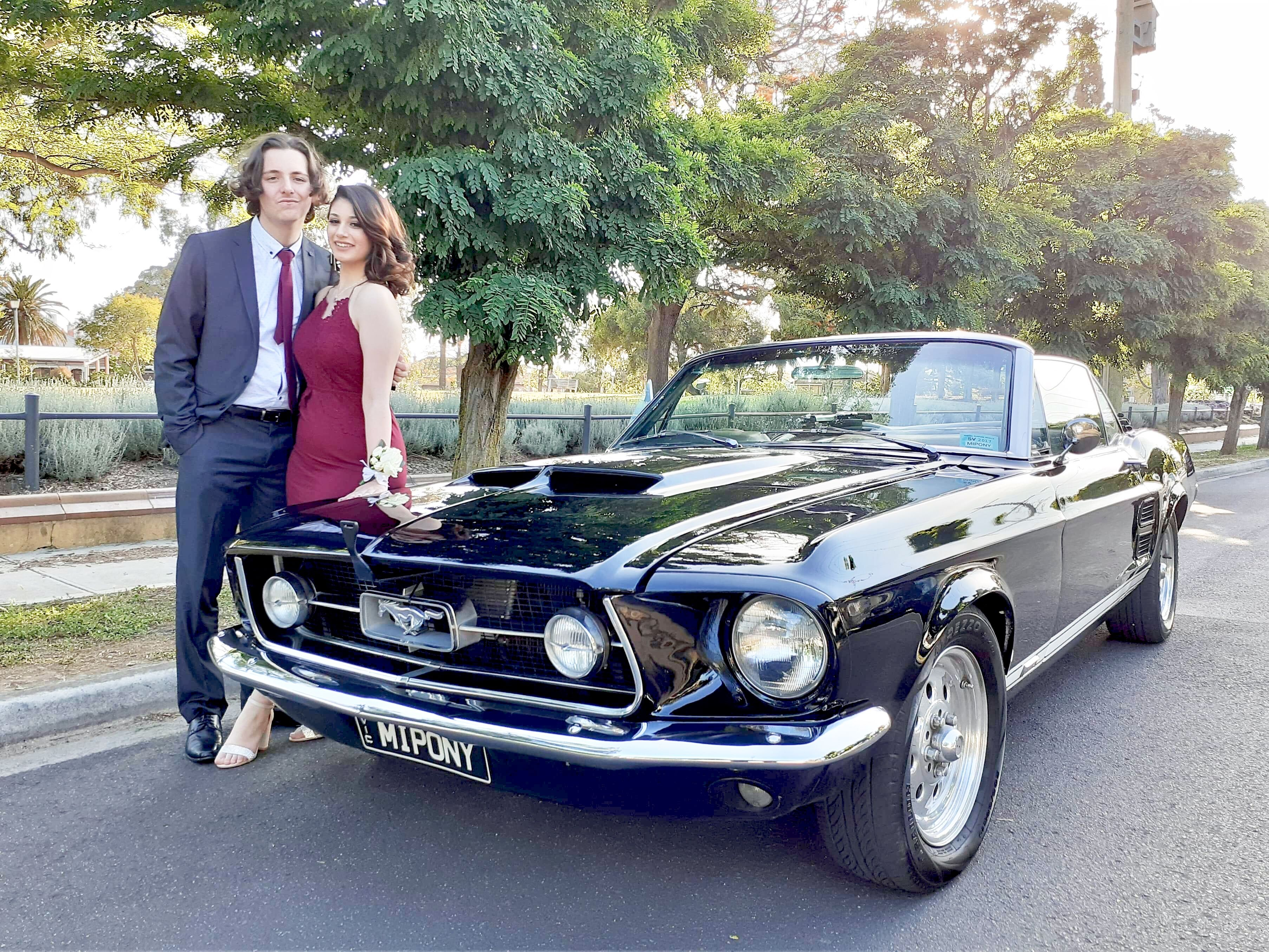 Mustangs In Black 1967 Gt Convertible Ford Mustang In Melbourne For A High School Formal Mustang Convertible Ford Mustang Mustang