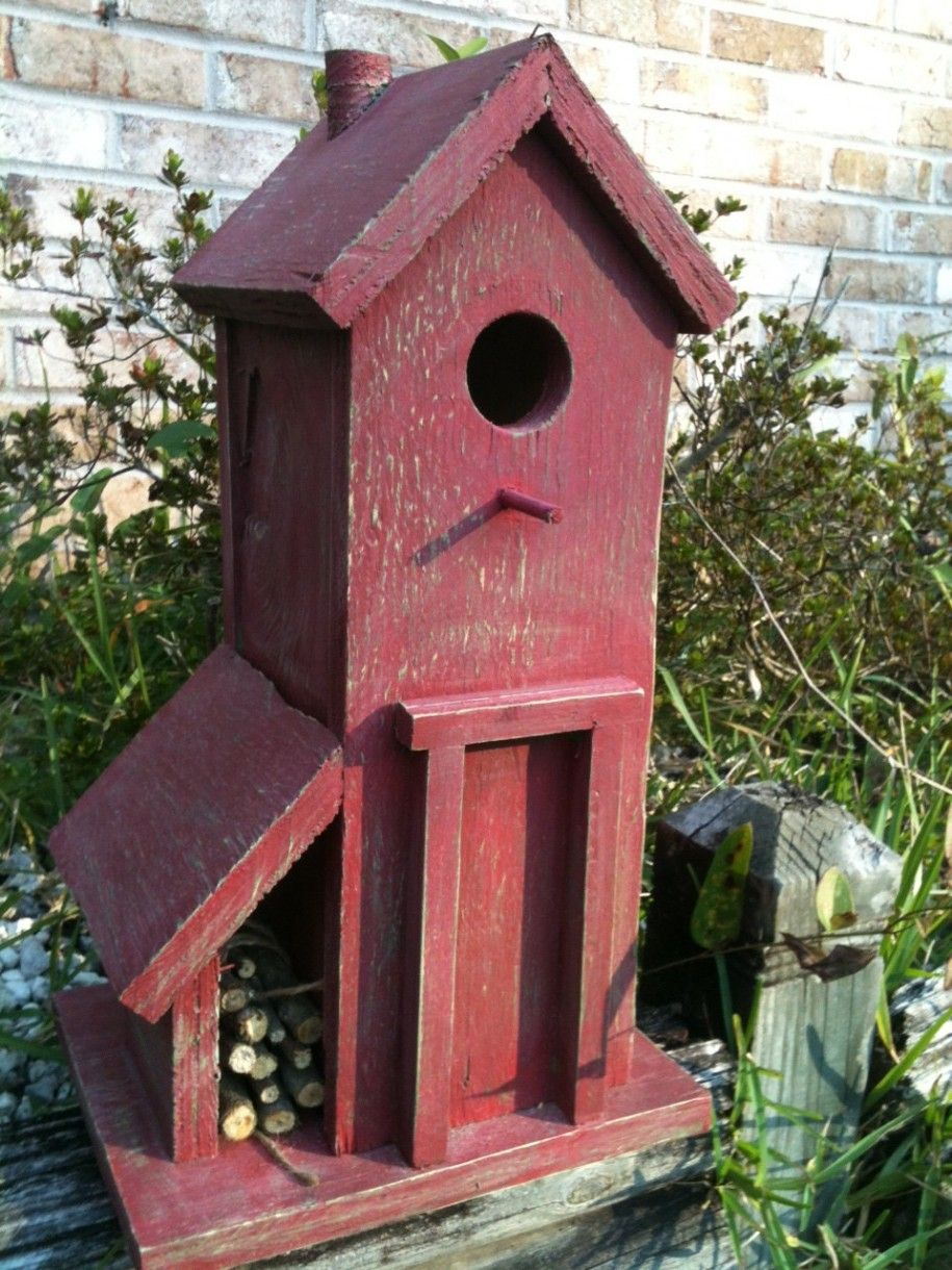 Awesome High Line Modern Cool Birdhouse Designs: Comfy Red Birdhouse