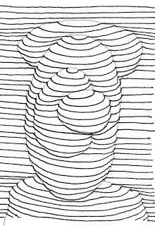 De Dibujo Artistico Y Color Generacion De Volumen Mediante El Uso Exclusivo De La Linea Linea De Contorno Papel De Dibujo Papel Cuadriculado