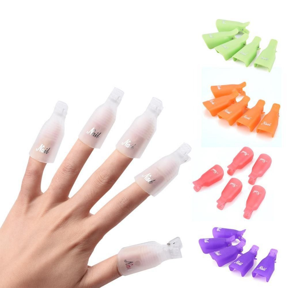 10pcs Remover Gel Nail Polish Nail Art Tips for Fingers UV Nail ...