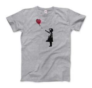 Girl Playing With Balloons Bansky T-Shirt