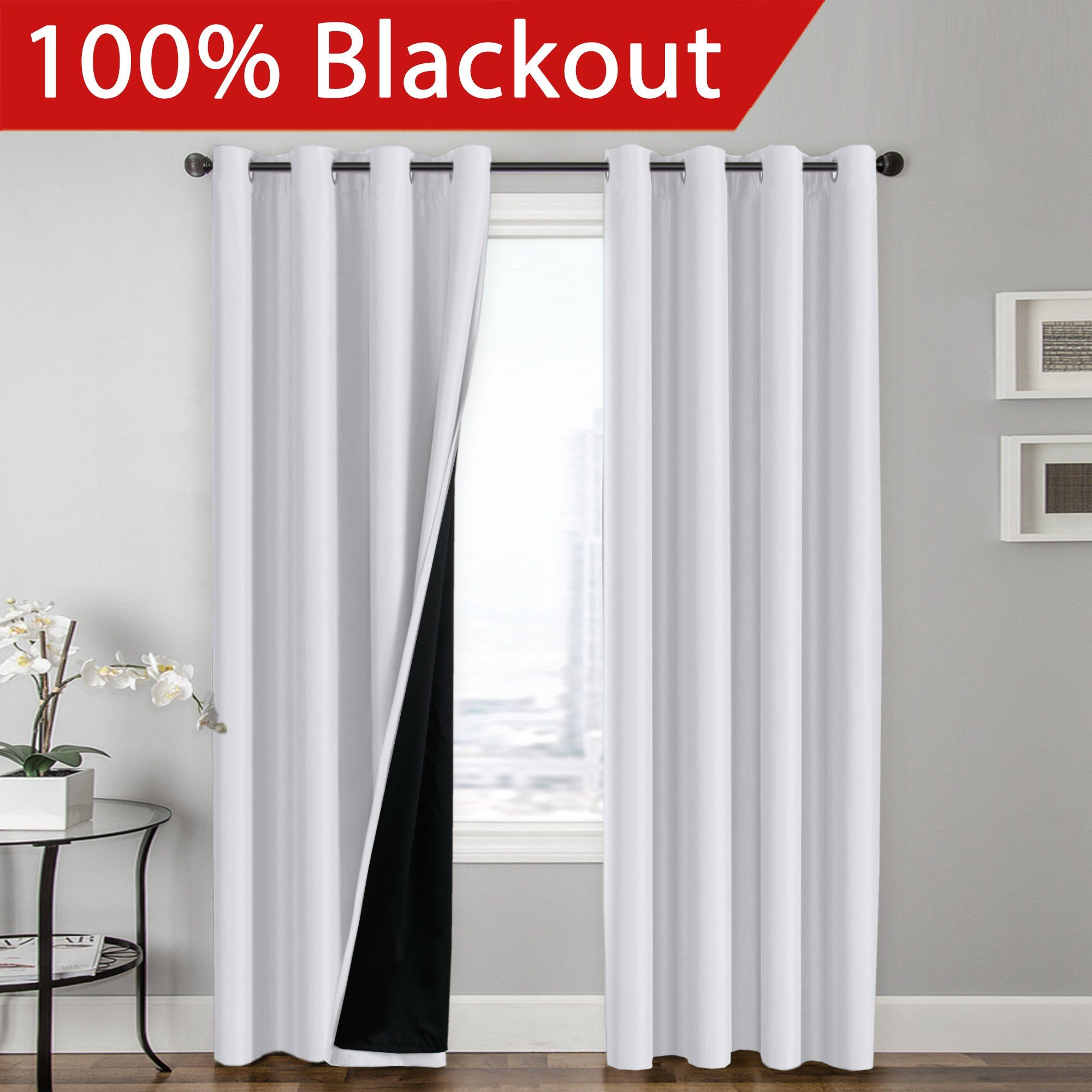 five solid from window on pure satin cloth door textile item home bedroom punching beautiful in fabric curtain color curtains garden