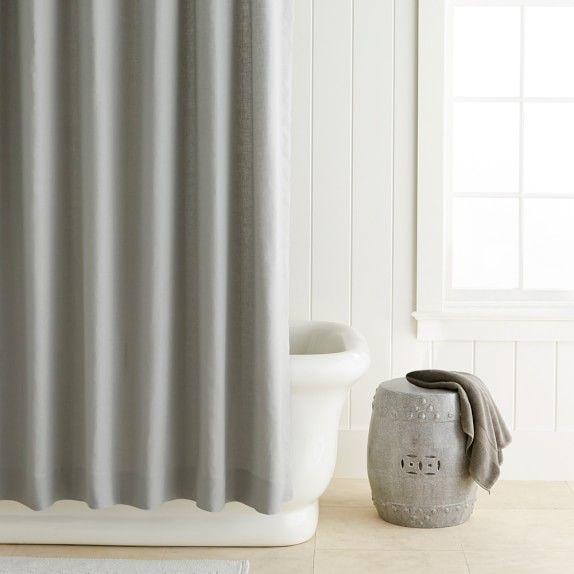 Williams Sonoma Bathroom Gray Shower Curtains Tub To Shower