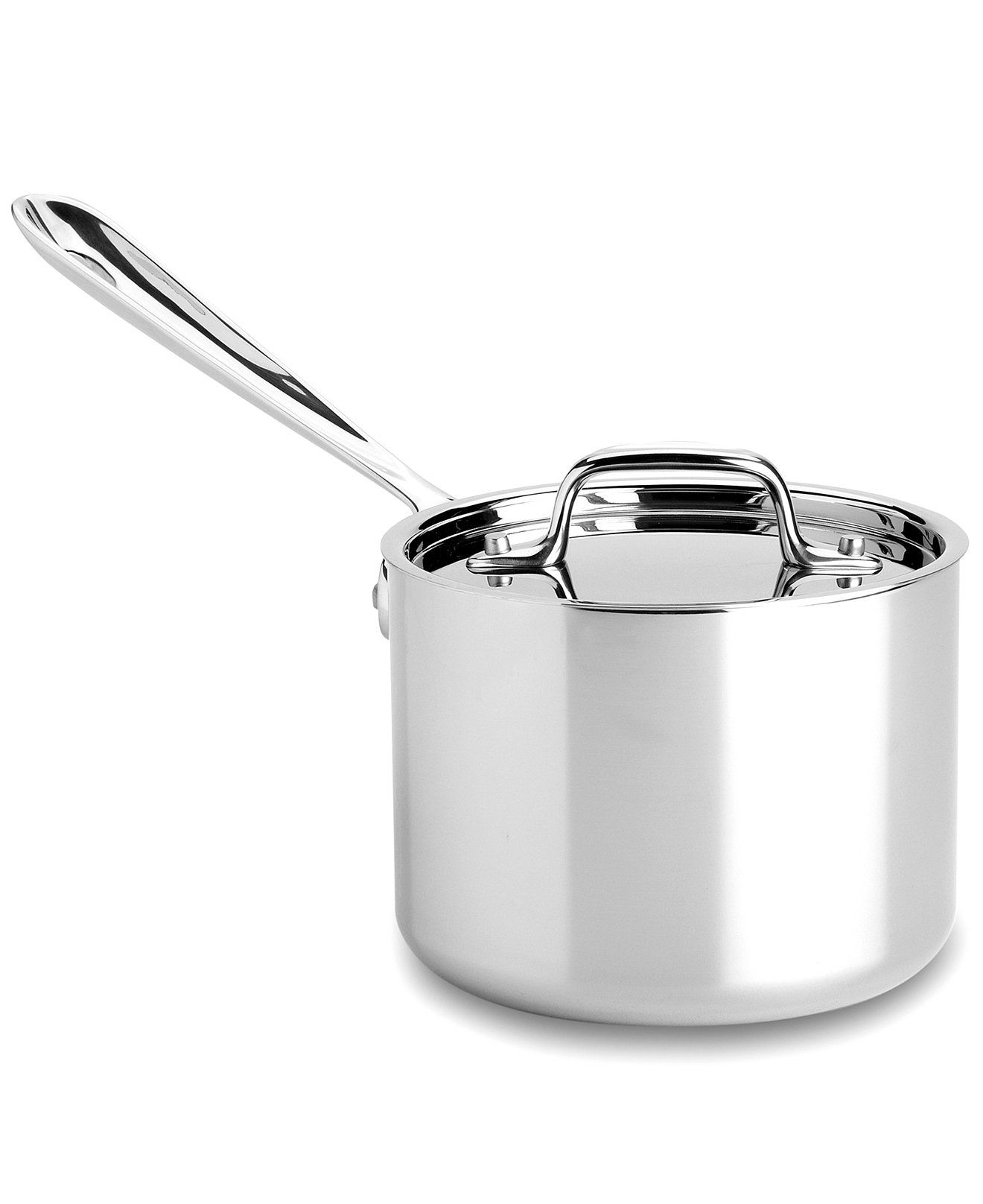 All Clad Stainless Steel 2 Qt Covered Saucepan Cookware Kitchen Macy S All Clad Stainless Steel Cookware Stainless Steel Dishwasher