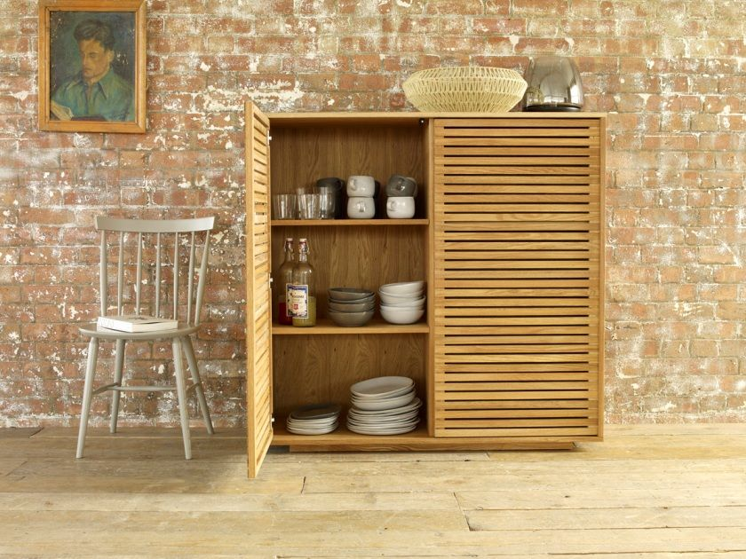 Max Oak Dining Storage Cupboard Habitat