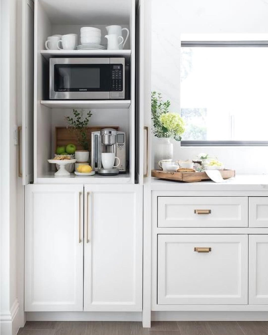 New The 10 Best Home Decor With Pictures Hideaway Kitchen Cabinetry For Your Microwave And Coffee S Kitchen Renovation Kitchen Design Home Decor Kitchen