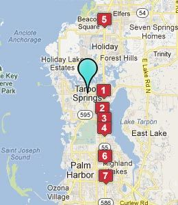Editable Map Of Tarpon Springs Florida Motel Pinterest Open Street And