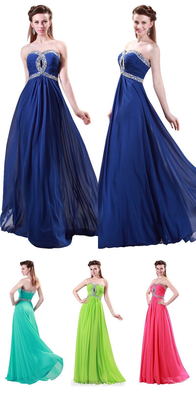 Aline sweetheart prom dresses chiffon long formal dresses latest
