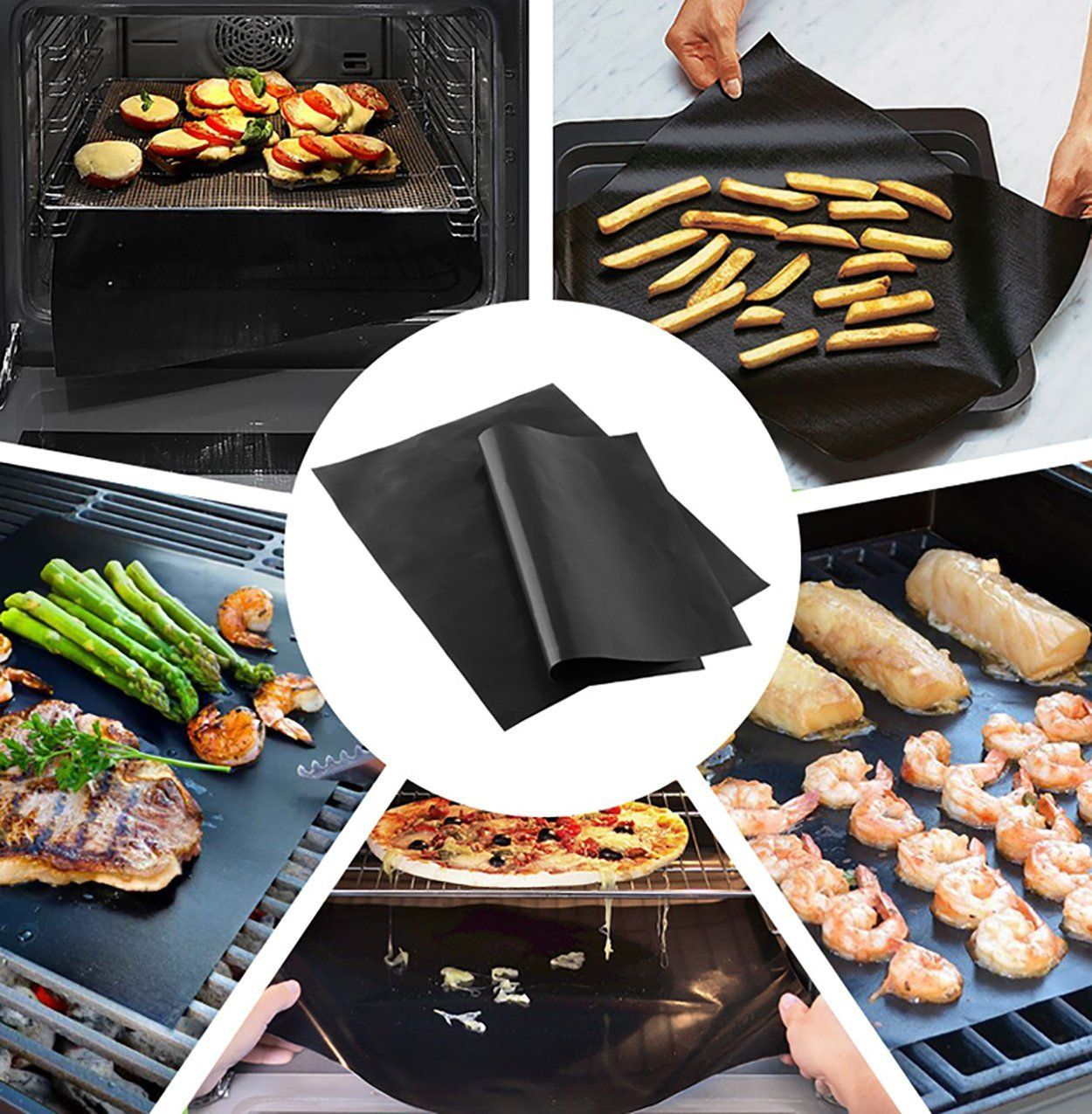 Amazon Com Grill Baking Mats By Budget Good Set Of 3 Non Stick