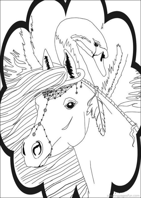 Bella Sara The Magical Horse Coloring Pages 6