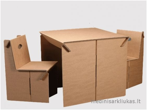 Cardboard table with chairs | The Wooden Horse - wooden toys, wooden toys manufacturing, wooden toys wholesale