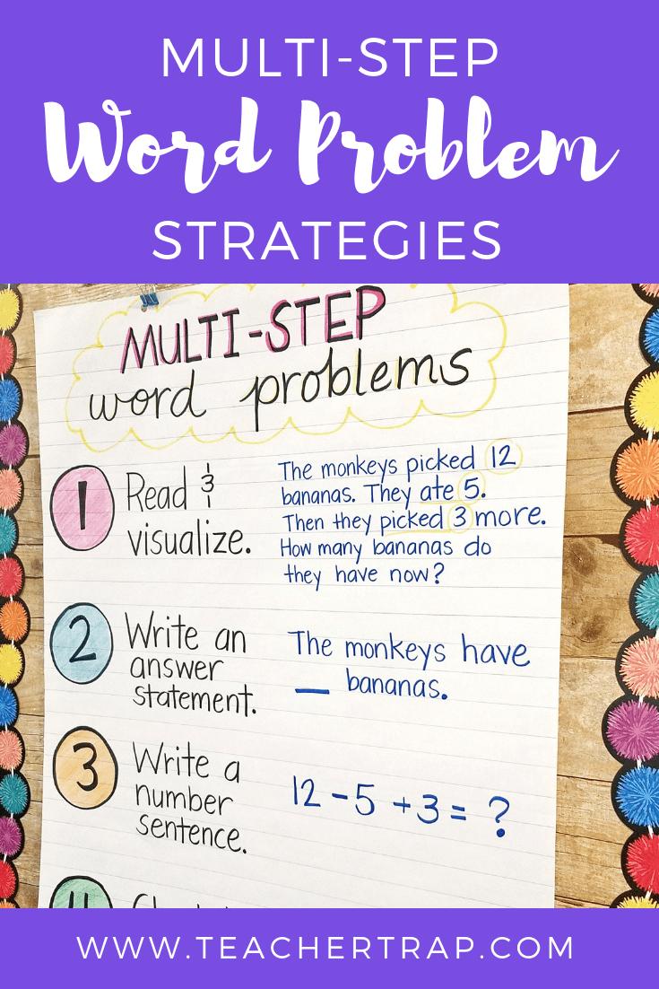 Mastering Multi Step Word Problems Math Strategies
