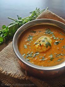 Cook like Priya: Boiled Egg Kurma Recipe | Restaurant Style Egg Kurma | Egg Side dish for Chappati