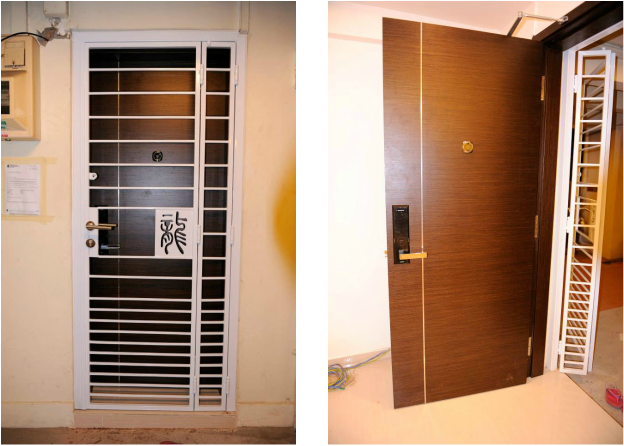 Customized Hdb Gate Door Samsung Shs 5050 At 2400