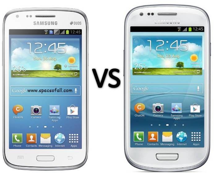 Compare Samsung Galaxy Core Vs Galaxy S3 Mini Smartphone Comparison Galaxy Ace Samsung