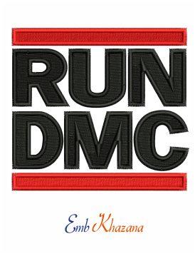 Run Dmc Logo Embroidery Design Embroidery Logo Embroidery Designs Run Dmc